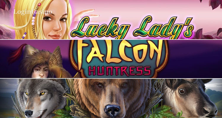 Обзор игровых автоматов Lucky Lady's Charm Deluxe, The Falcon Huntress и Kamchatka