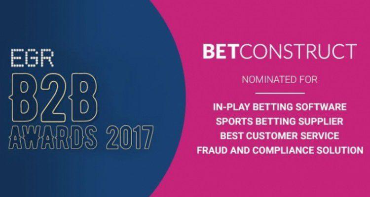 BetConstruct в третий раз получил награду за лучший сервис обслуживания на EGR B2B Awards 2017