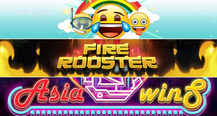 обзор Emoji Planet Fire Rooster и Asia Wins Slot Logincasino
