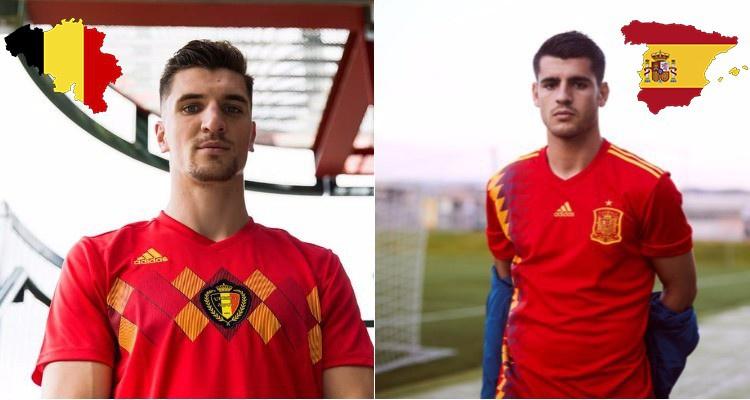 Бельгия и Испания представили форму, в которой сыграют на чемпионате мира