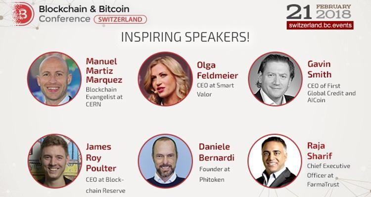 В Blockchain & Bitcoin Conference Switzerland примут участие ключевые финтех-эксперты Швейцарии