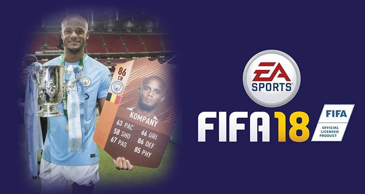 Венсан Компани – обладатель специальной карточки FIFA 18