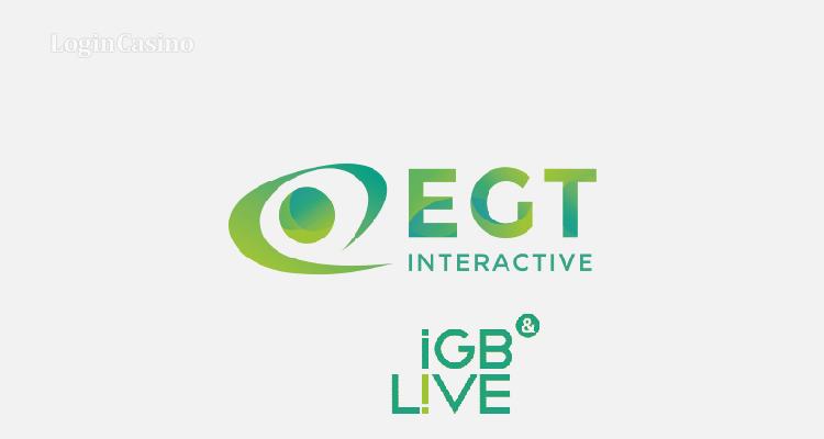 EGT Interactive выступит Золотым спонсором iGB Live!