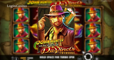 Игровой автомат John Hunter and the Secrets of Da Vinci's Treasure от Pragmatic Play