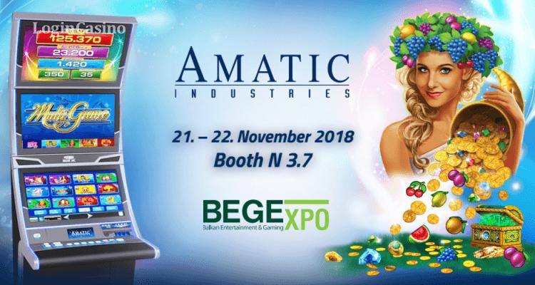 Игровые новинки украсят мультигейминговый ассортимент Amatic Industries на BEGE