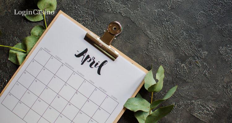 Календарь игорных событий на апрель – 2019
