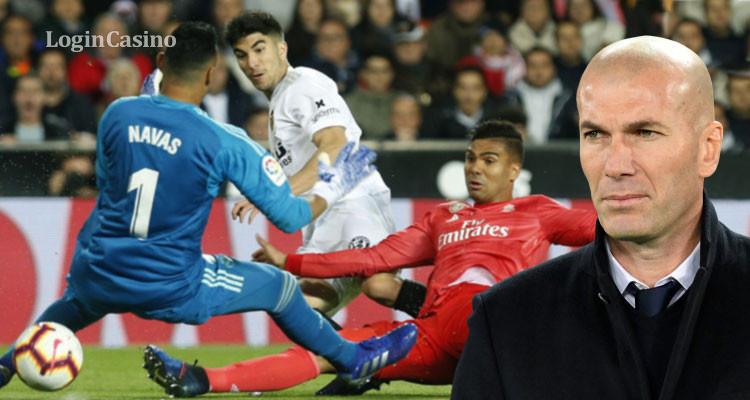 Первое поражение Зидана после возвращения в «Реал»