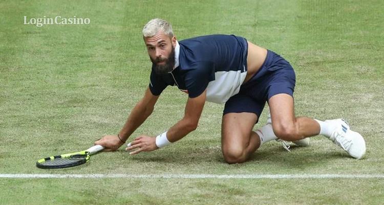 Теннисисты сыграли на турнире в Галле необычным способом – не используя рук